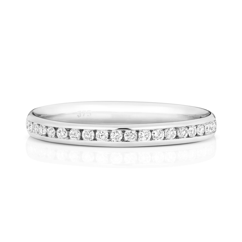 Platinum-18ct-9ct-Carat-White-Yellow-Gold-Eternity-Diamond-Wedding-Band-Ring thumbnail 5